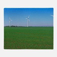 Wind turbines Throw Blanket