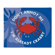 Dont Annoy Me Large Serving Tray Throw Blanket