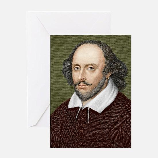 William Shakespeare, English playwri Greeting Card