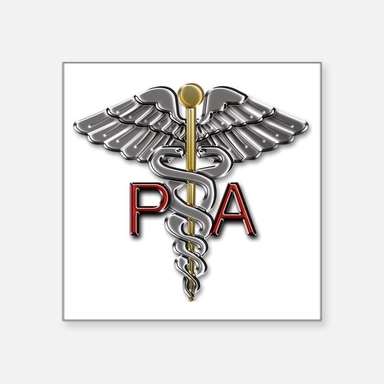 "PA Symbol Square Sticker 3"" x 3"""