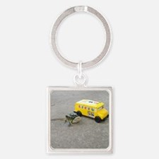 Spiny the Lizard back to school Square Keychain