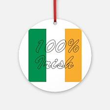 100% Irish Ornament (Round)