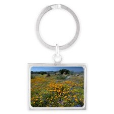 Wildflowers in South Africa Landscape Keychain
