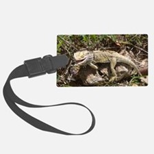 Spiny the Lizard Smiling Luggage Tag