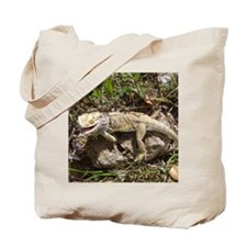 Spiny the Lizard Smiling Tote Bag