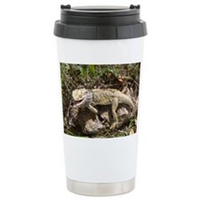 Spiny the Lizard Smiling Travel Mug