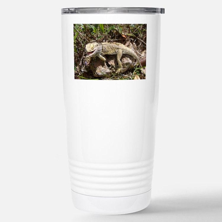 Spiny the Lizard Smiling Travel Mug