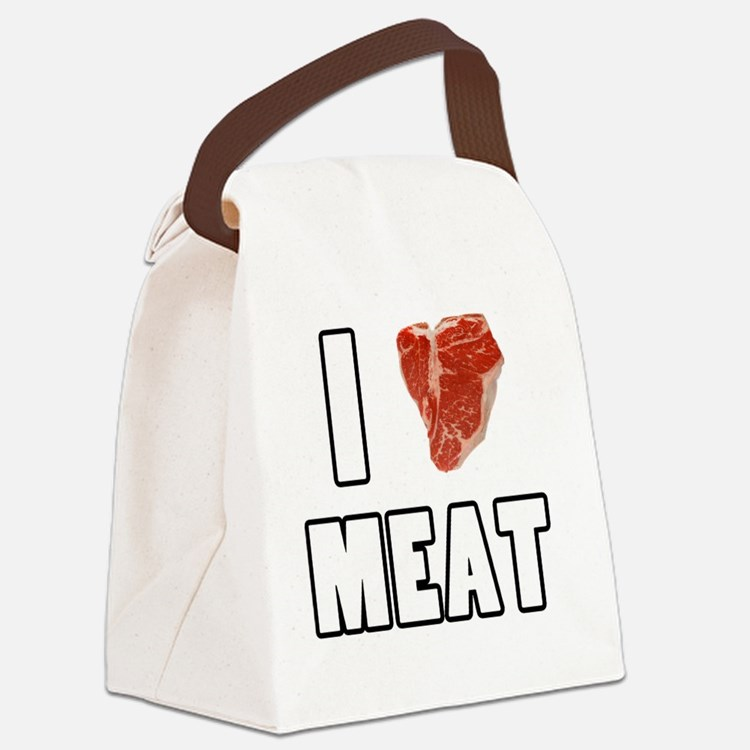 I Heart Meat Canvas Lunch Bag