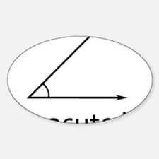 Im acute kid Sticker (Oval)