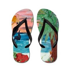 Sunrise Mermaid Flip Flops