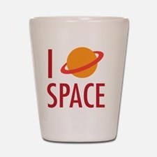 I Heart Space Shot Glass