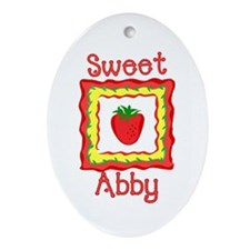 Sweet Abby Oval Ornament
