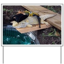 Pirate Spiny the Lizard Yard Sign