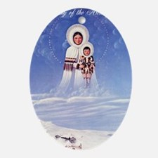 Our Lady of the Arctic Snows Oval Ornament