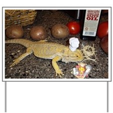 Chef Spiny the Lizard Yard Sign
