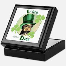St. Patrick Yorkie Keepsake Box