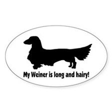 My Weiner Oval Decal