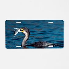 White-breasted cormorant wi Aluminum License Plate