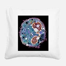 White blood cell, TEM Square Canvas Pillow