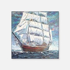 "Clipper Ship Square Sticker 3"" x 3"""