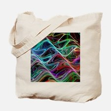 Waveforms, abstract artwork Tote Bag