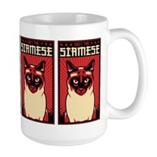 Obey the SIAMESE! Cat Propaganda Mugs