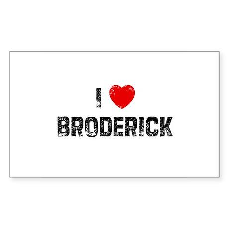 I * Broderick Rectangle Sticker