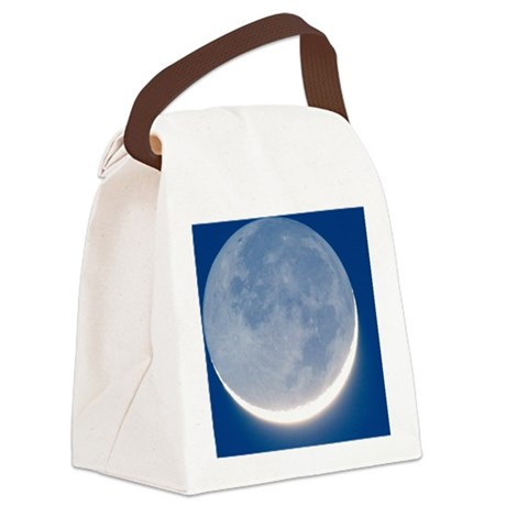 Waxing crescent Moon Canvas Lunch Bag