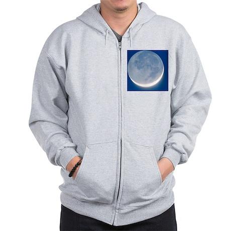 Waxing crescent Moon Zip Hoodie