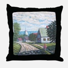 Maine in May on the coast Throw Pillow