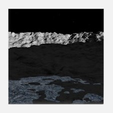 Water on the moon, artwork Tile Coaster