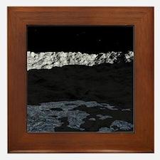 Water on the moon, artwork Framed Tile