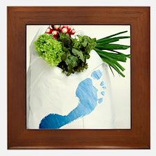 Water footprint of vegetables Framed Tile