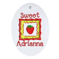 Sweet Little Adrianna Oval Ornament