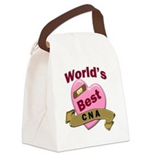 Worlds Best CNA Canvas Lunch Bag