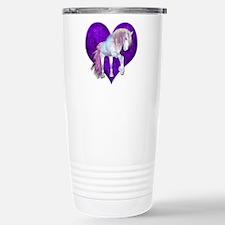 Purple Heart Unicorn Travel Mug