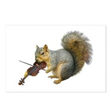 Squirrel Violin Postcards (Package of 8)