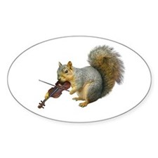 Squirrel Violin Decal