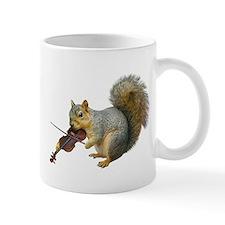 Squirrel Violin Small Mug