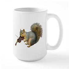 Squirrel Violin Ceramic Mugs