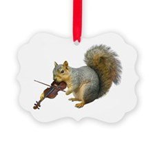 Squirrel Violin Ornament