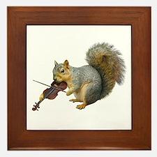 Squirrel Violin Framed Tile