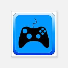 """Play Icon Square Sticker 3"""" x 3"""""""