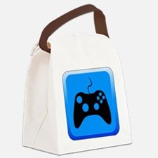 Play Icon Canvas Lunch Bag