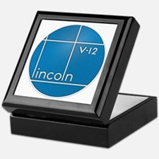Vintage Lincoln V-12 emblem Keepsake Box