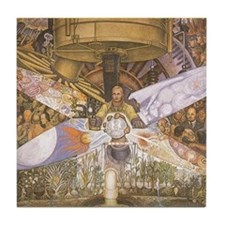Diego Rivera Art Tile Coaster Man at Crossroads