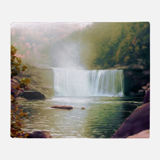 Cumberland Falls Throw Blanket