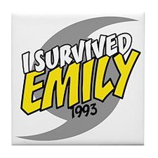I Survived Emily Hurricane South Caro Tile Coaster