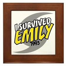 I Survived Emily Hurricane South Carol Framed Tile