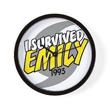 I Survived Emily Hurricane South Caroli Wall Clock